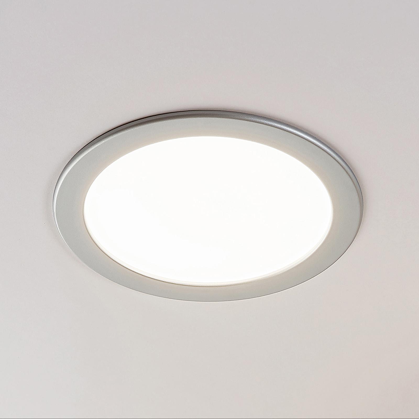 Spot encastré LED Joki argenté 3000K rond 24cm