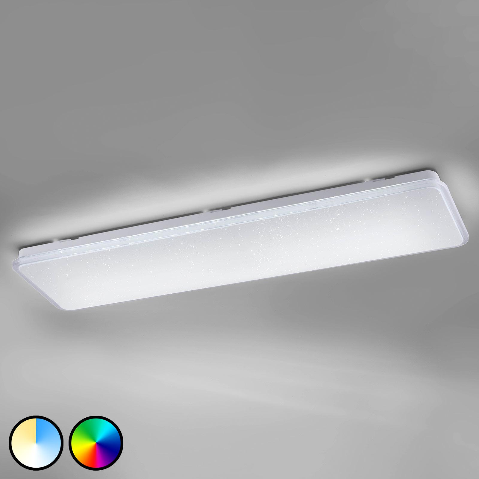 Trio WiZ Imara LED-Deckenlampe mit Kristalleffekt