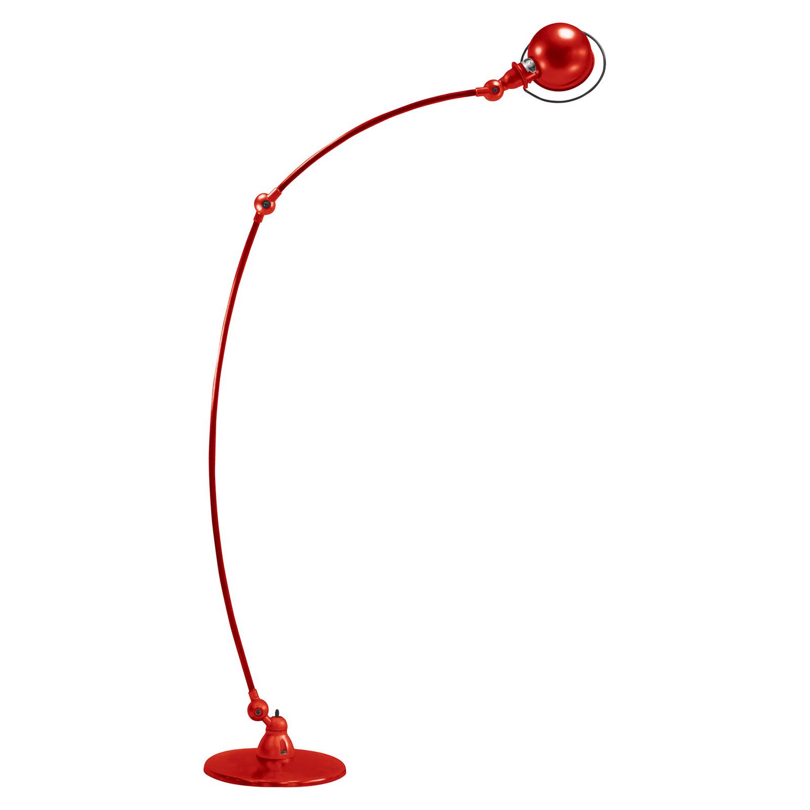 Jieldé Loft C1260 bågformad golvlampa, röd