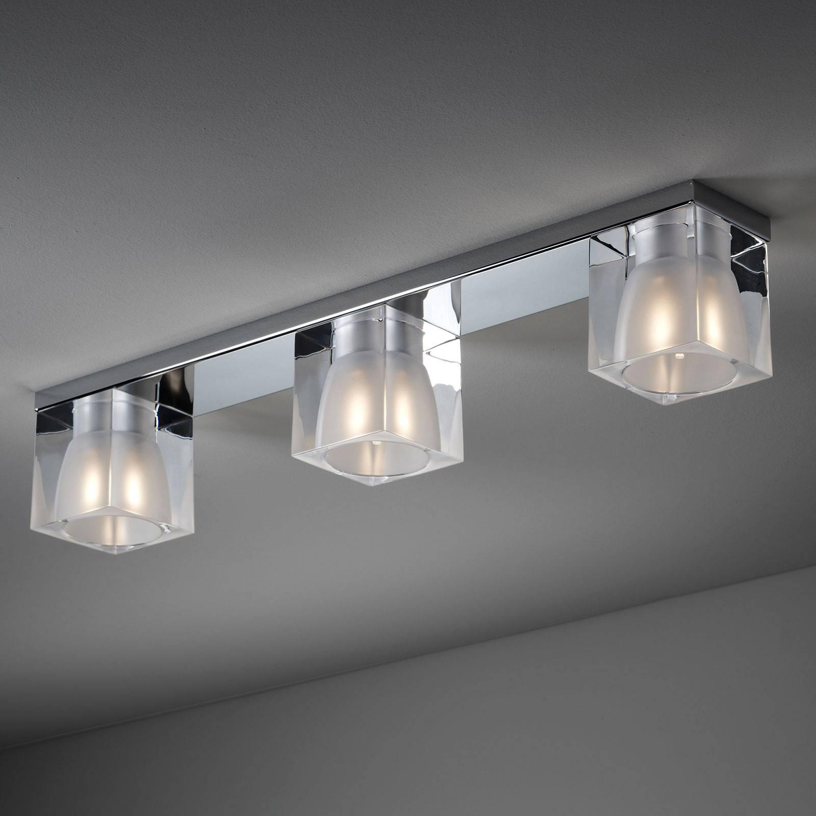 Fabbian Cubetto plafondlamp 3-lamps G9 helder