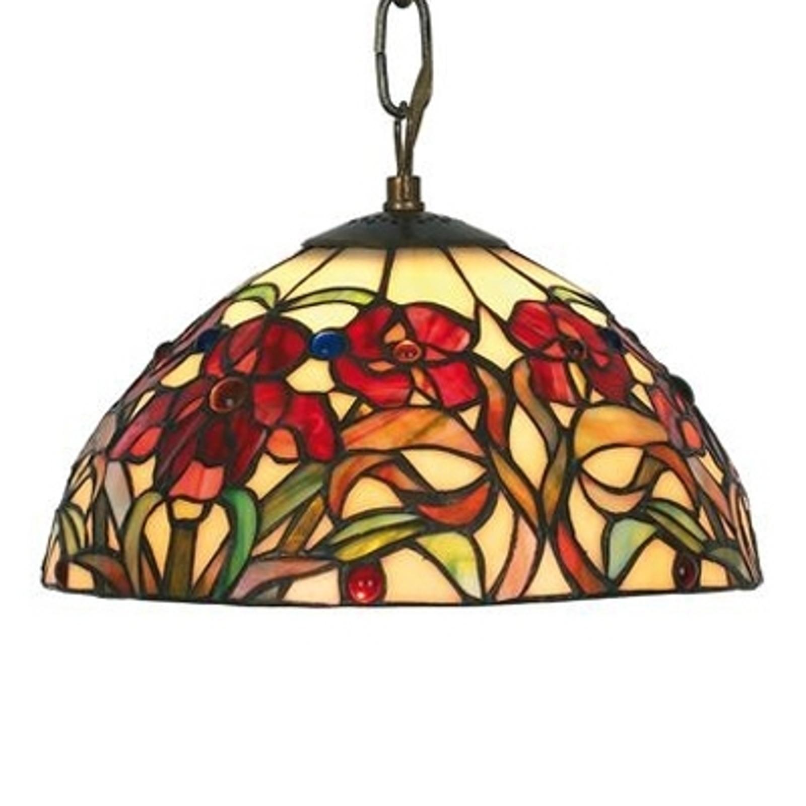 Malé závěsné světlo Eline v Tiffany stylu