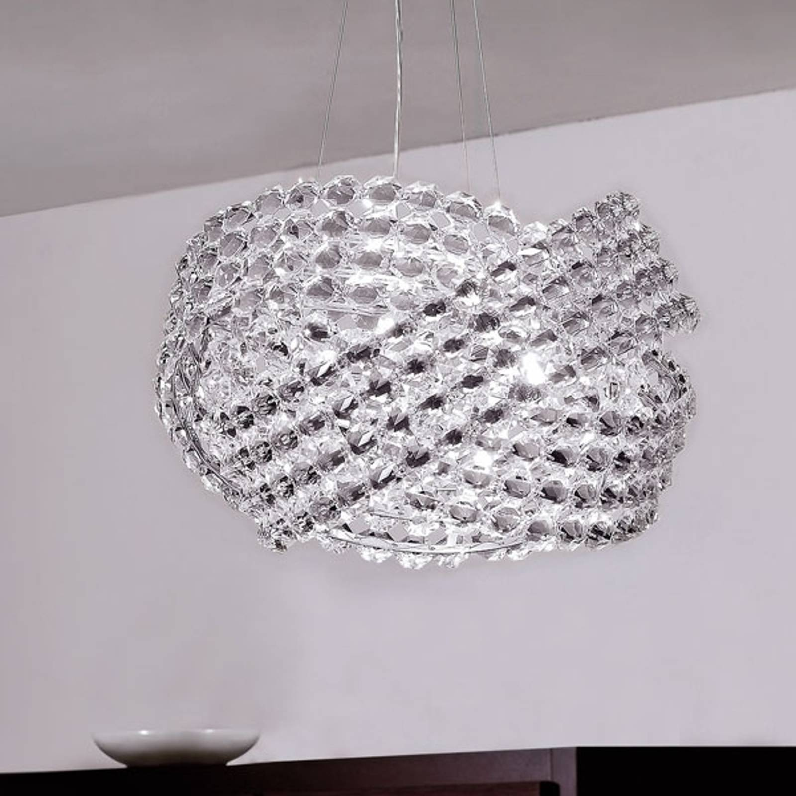 Kryształowa lampa wisząca DIAMANTE Ø 40 cm