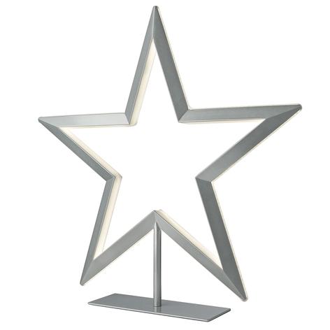 Lampe décorative LED Étoile en argenté