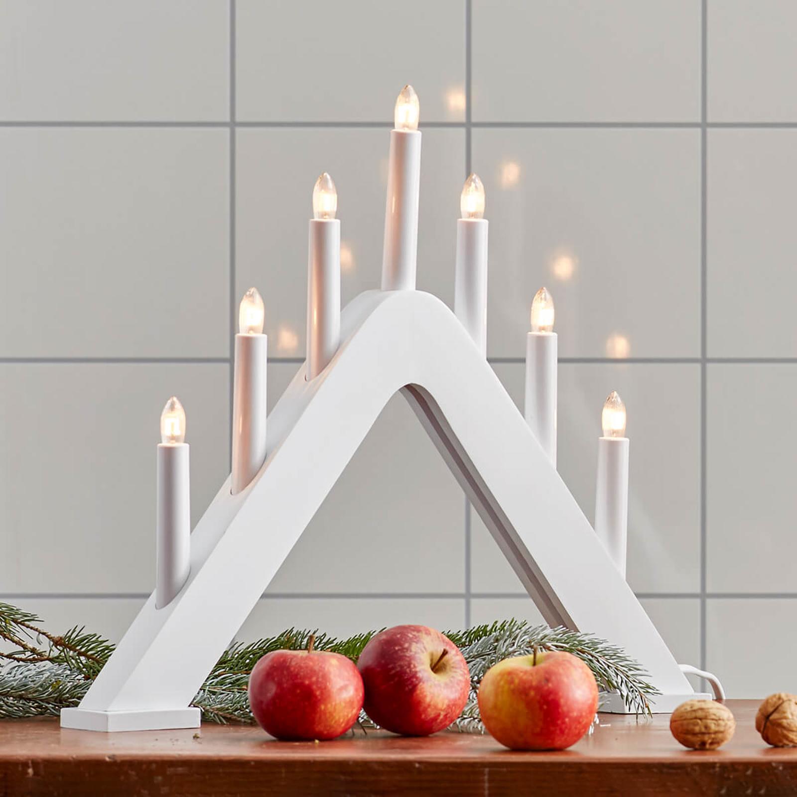 Modern designter Kerzenleuchter Jarve weiß