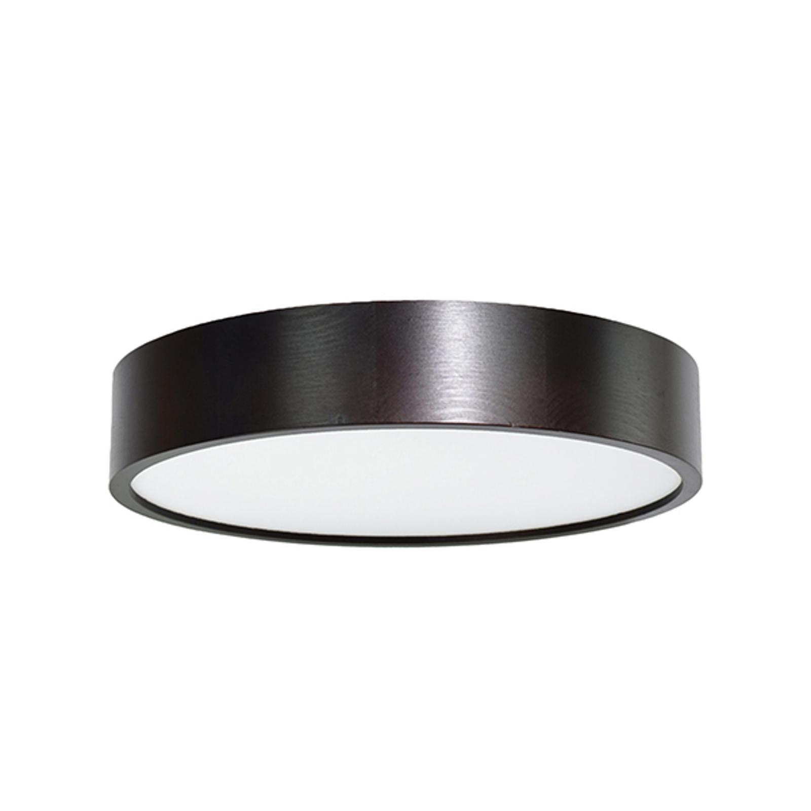 LED-kattovalaisin Cleo, Ø 38 cm, musta