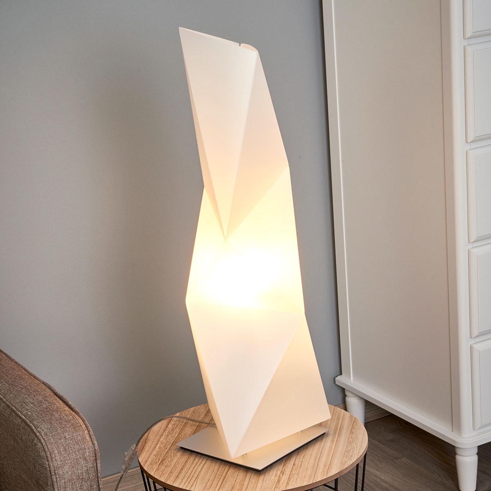 Kantig designer-bordslampa Diamond 72 cm