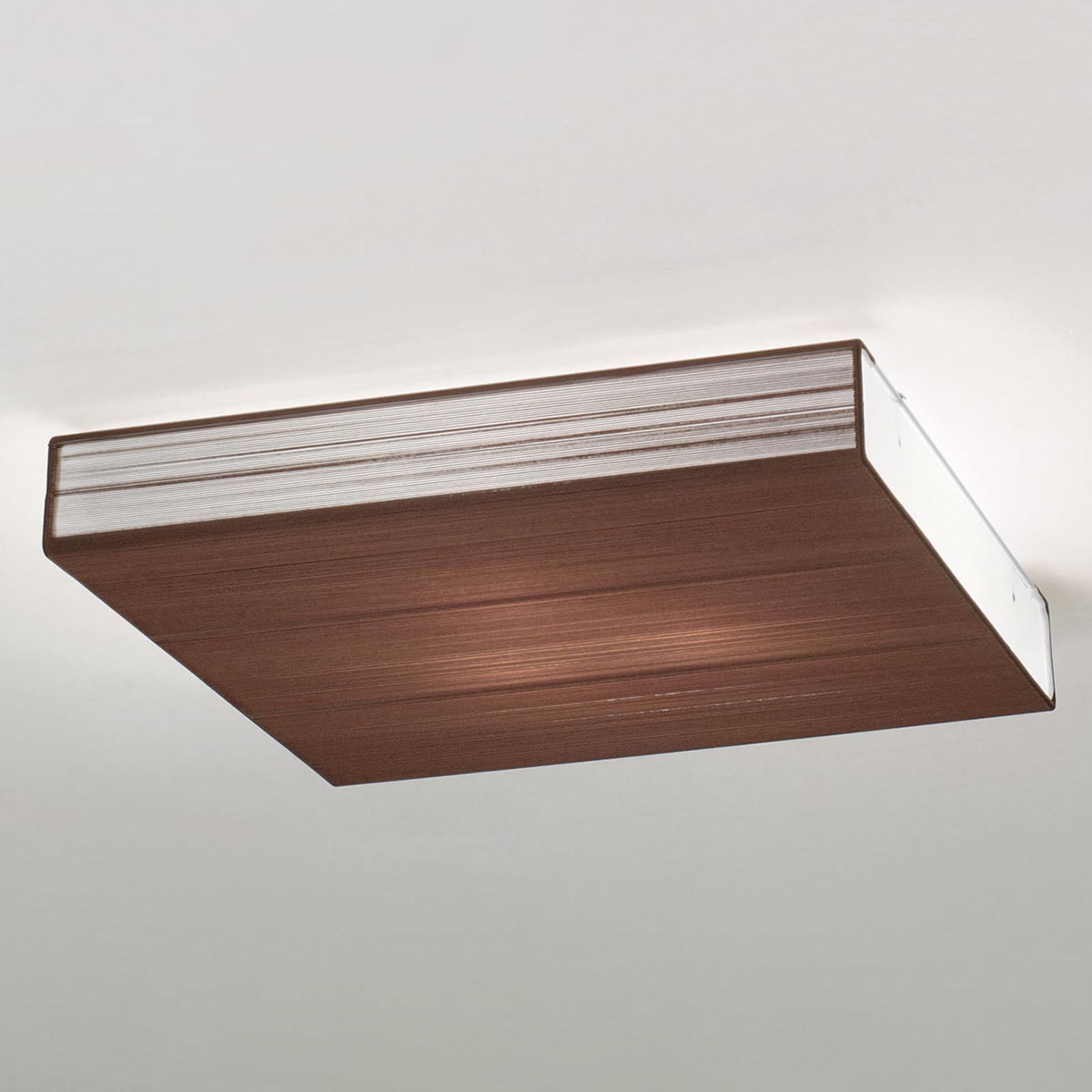 Axolight Clavius lampa sufitowa 60 cm tytoń