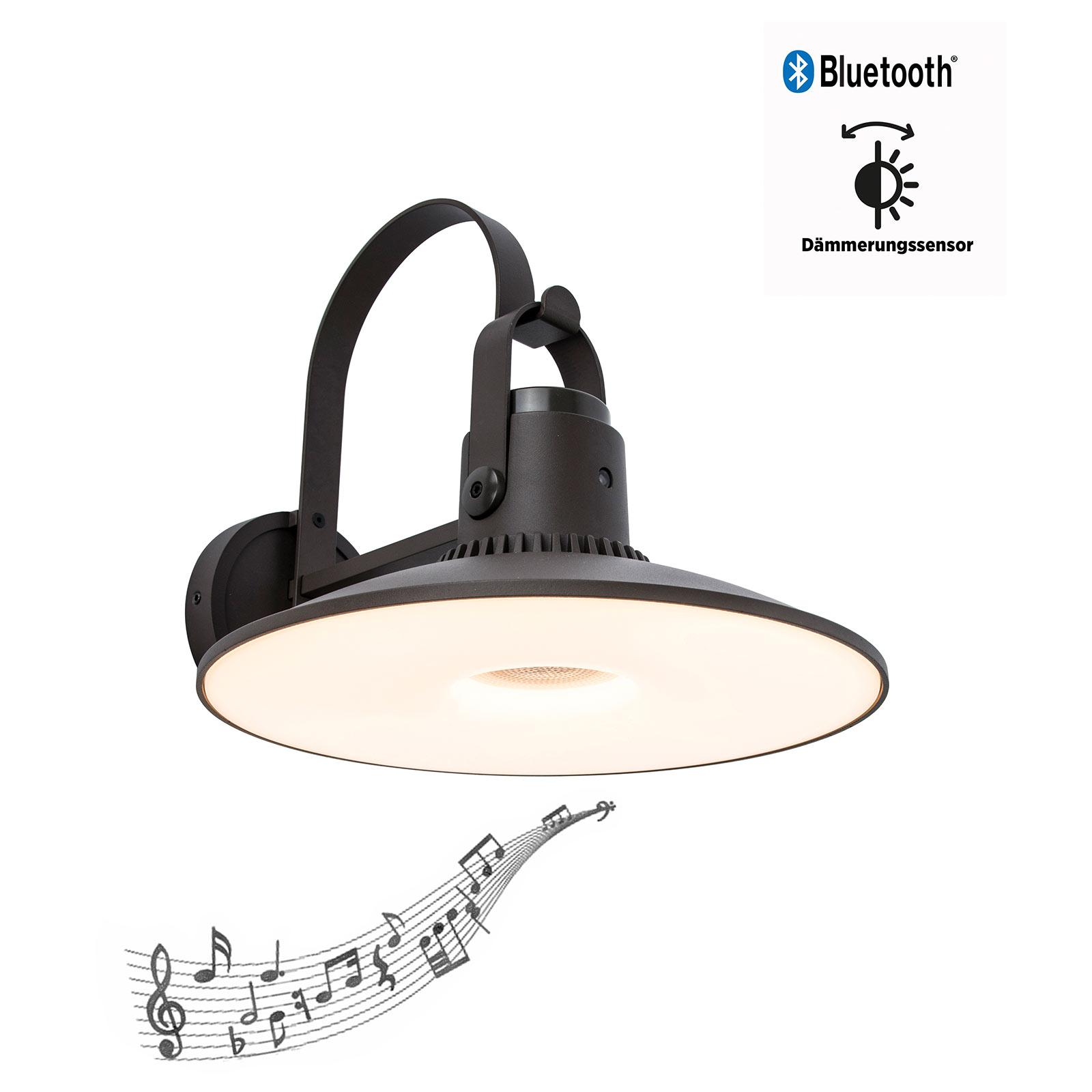 LED-Außenwandleuchte Darli mit 3W Lautsprecher