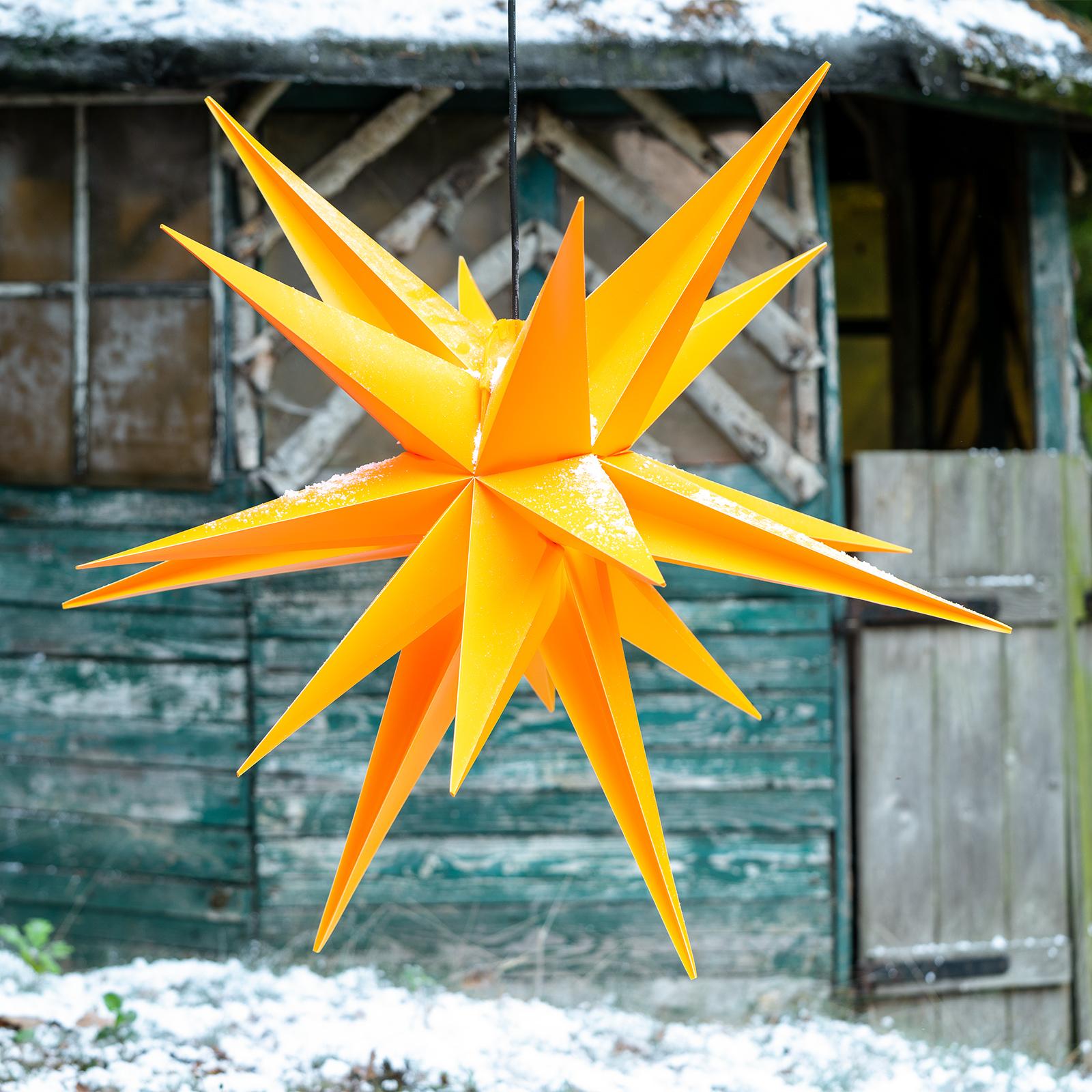 Gelber Kunststoff-Stern Jumbo Ø 1m außen 18 Zacken