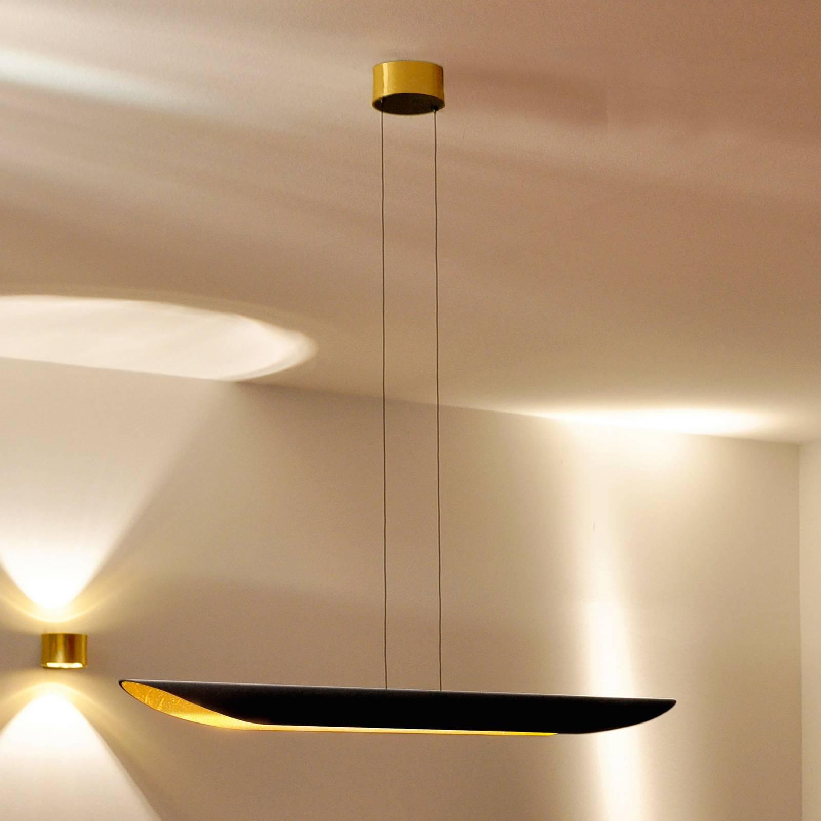 BANKAMP Open Mind lampa wisząca LED płatkowe złoto