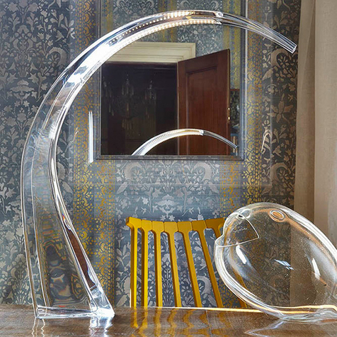 Lámpara de mesa LED Taj transparente