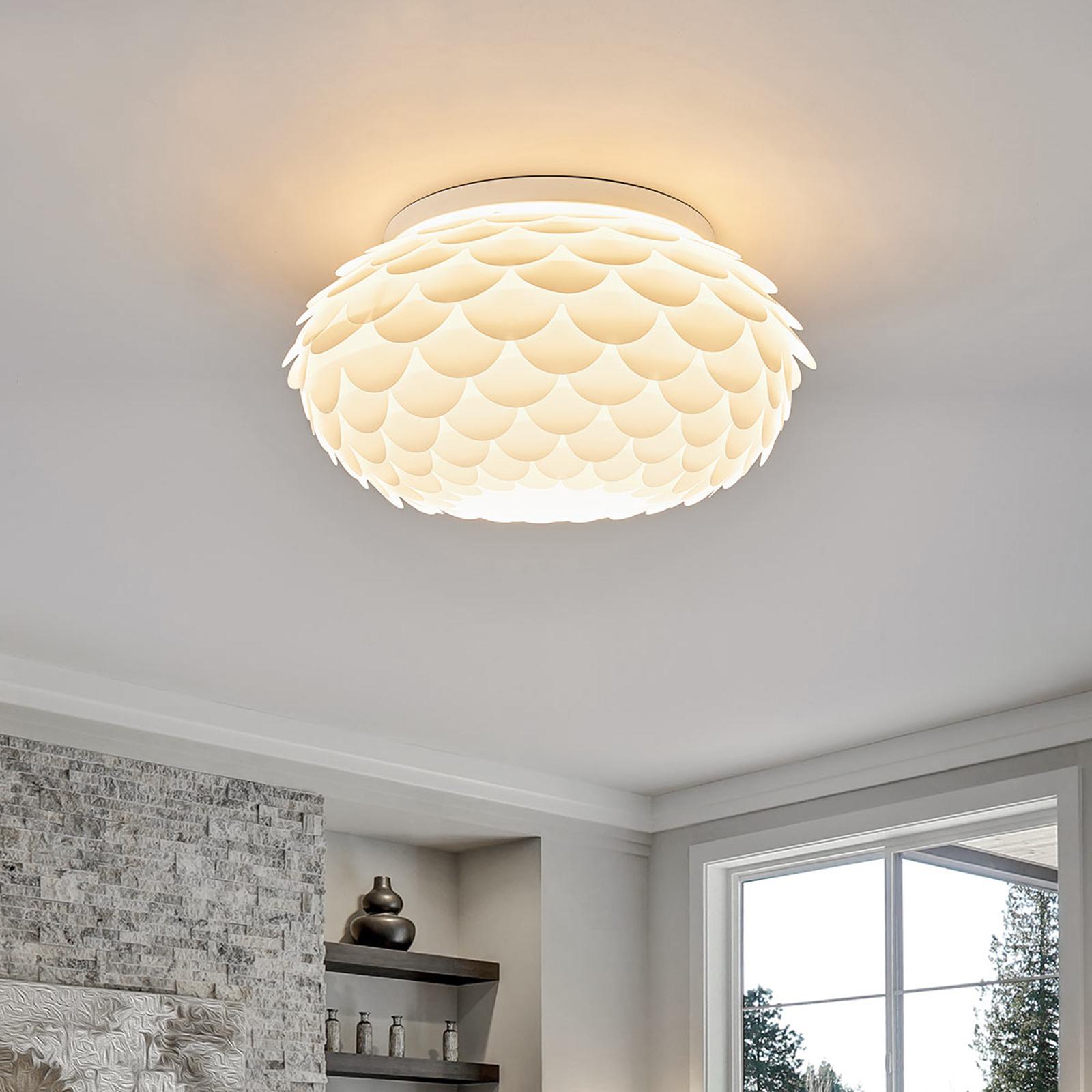 Lampa sufitowa Marees, biała, okrągła