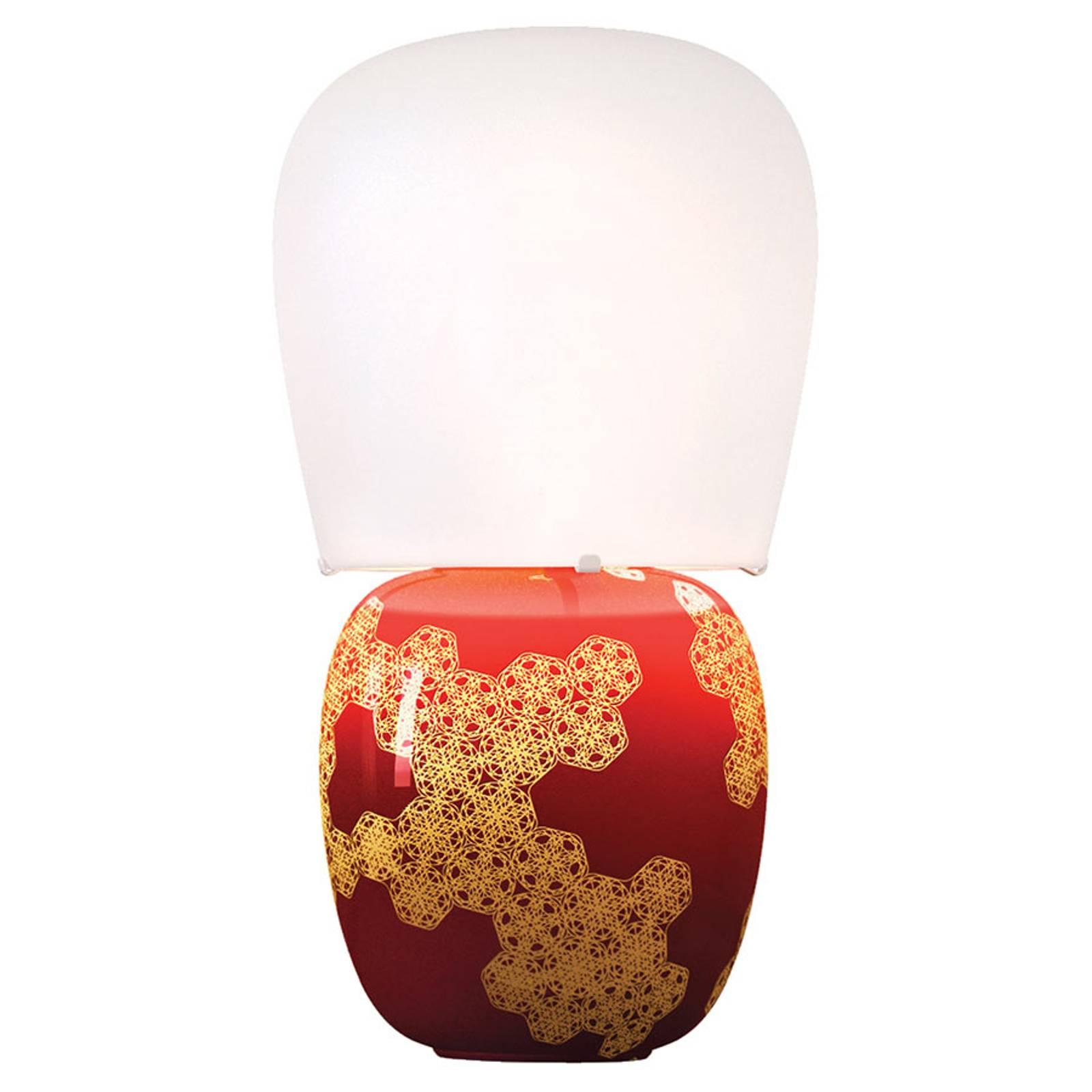 Kundalini Hive - Keramik-Tischleuchte, rot