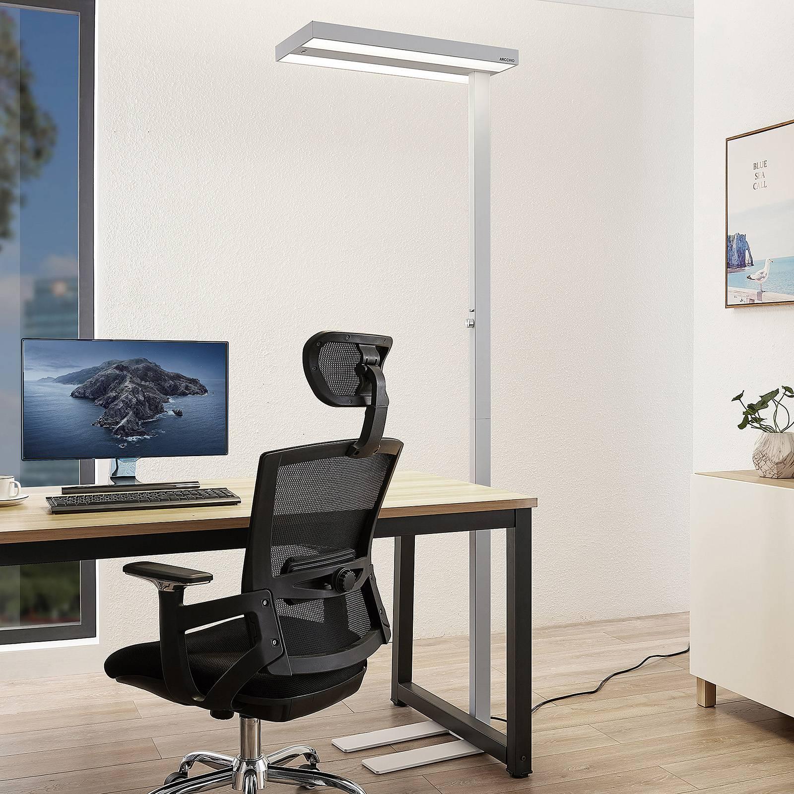 Arcchio Nelvana LED sensor-vloerlamp, wit