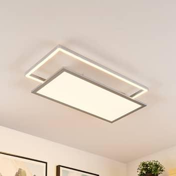 Lucande Senan LED-taklampa, rektangel, CCT