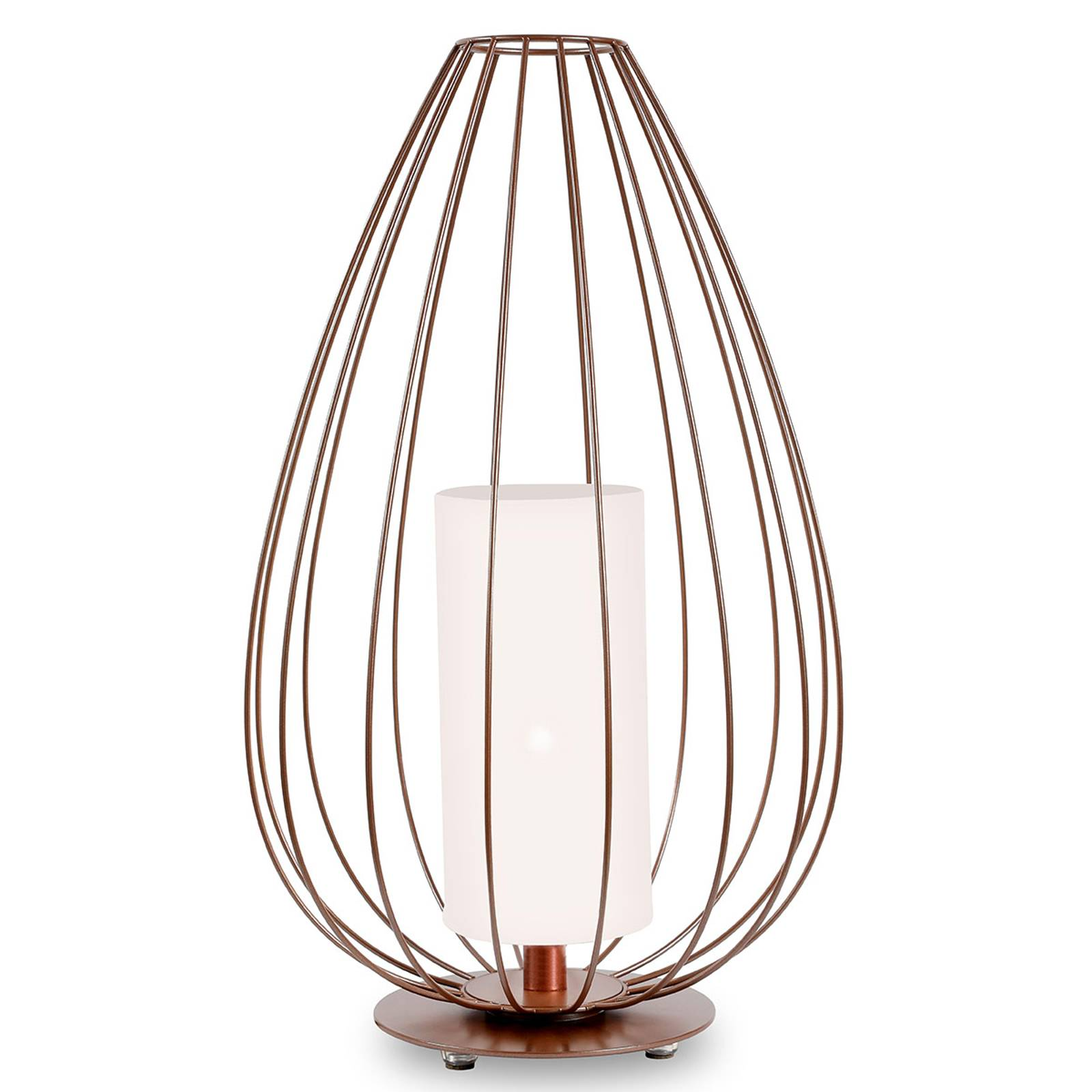 Karman Cell - kooi-vloerlamp, brons, Ø55cm