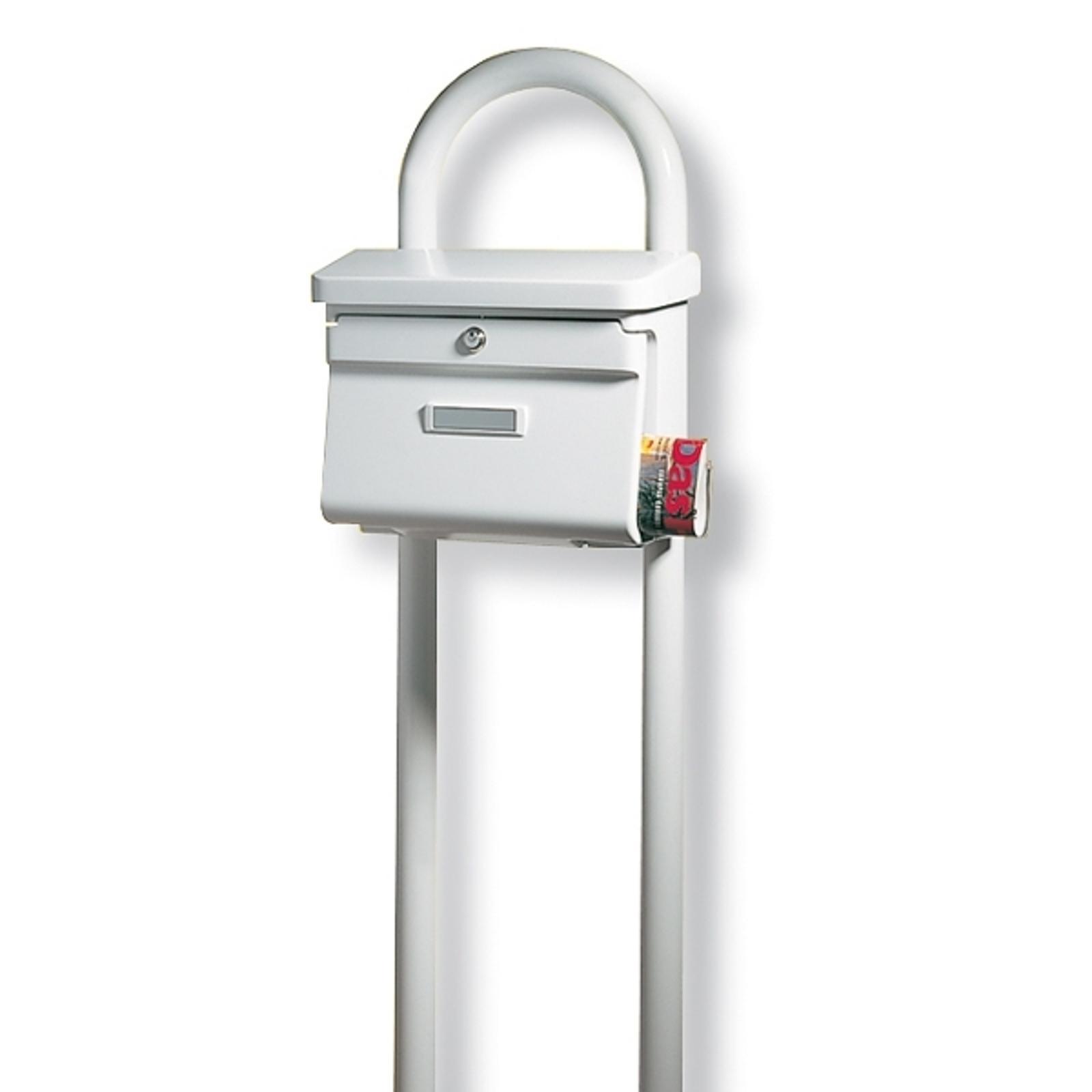 Rondo-postilaatikkopylväs, valkoinen