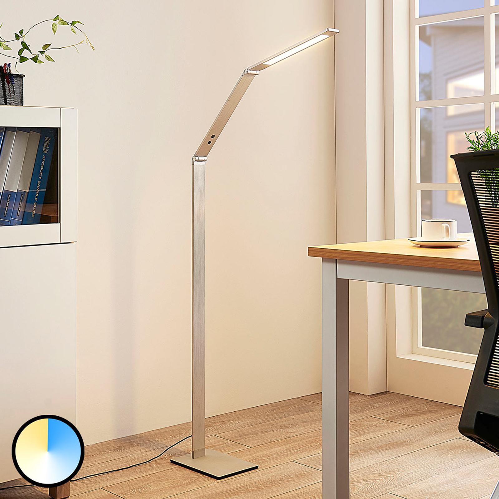 Filigran LED-leselampe Nicano, variabel lysfarge