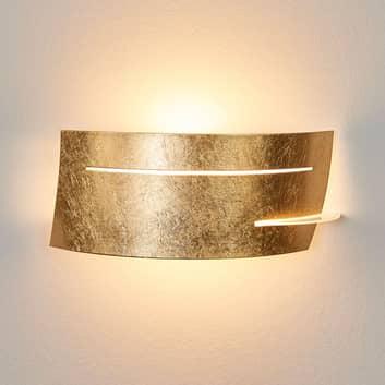 LED nástěnná svítilna Keyron, zlatá barva