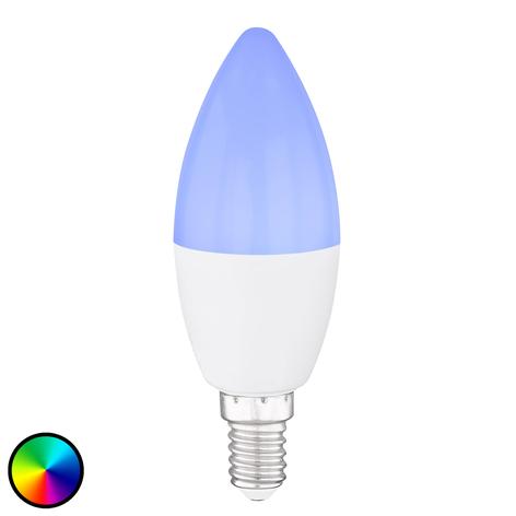 Bombilla vela LED E14, 4,5W Tuya-Smart RGBW CCT