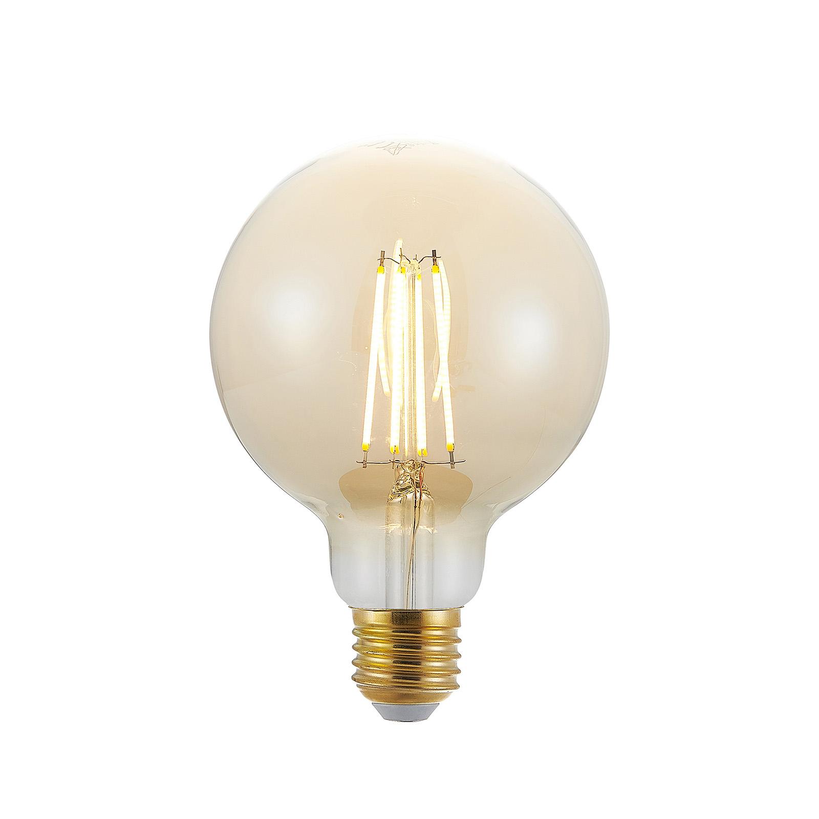 Acquista Lampadina LED E27 G95 6,5W 2.500K ambra, dimming