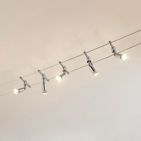 Kabelsysteem Rope met LED spots, 5-lamps