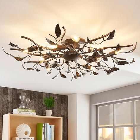 Stor LED-taklampa Yos, bladdesign