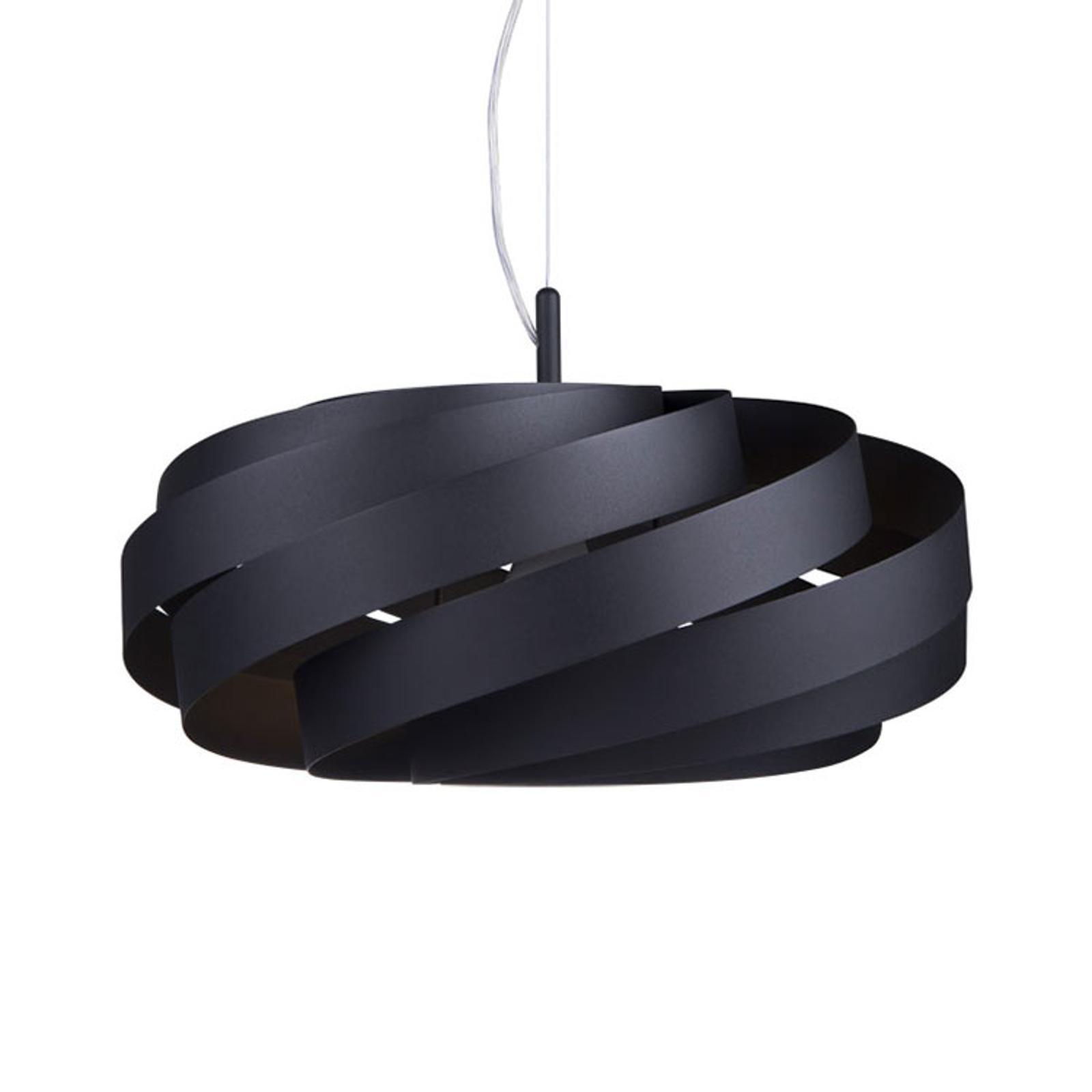 Lampada sospensione Vento, nero Ø 50 cm