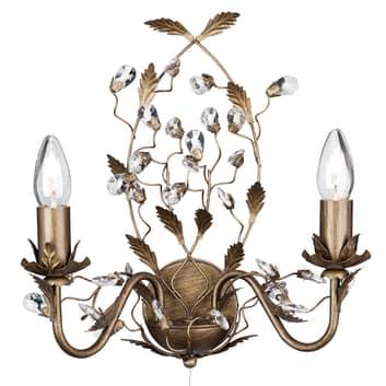 Vegglampe Almandite i florentinsk stil 2 l.