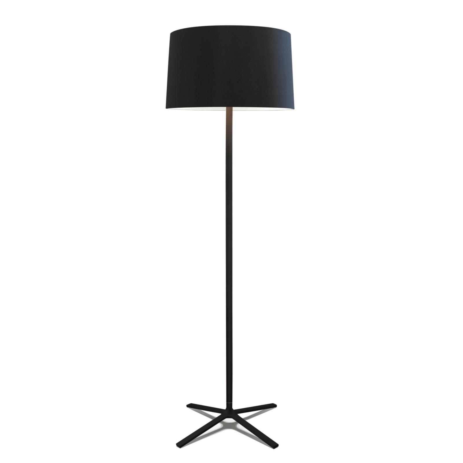 Grok Hall lampadaire avec abat-jour en tissu, noir