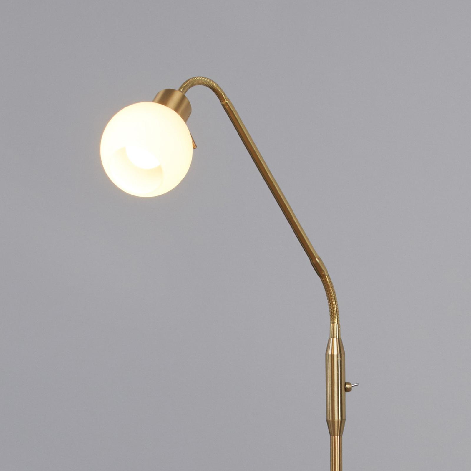 Elaina - LED-leeslamp in Messing