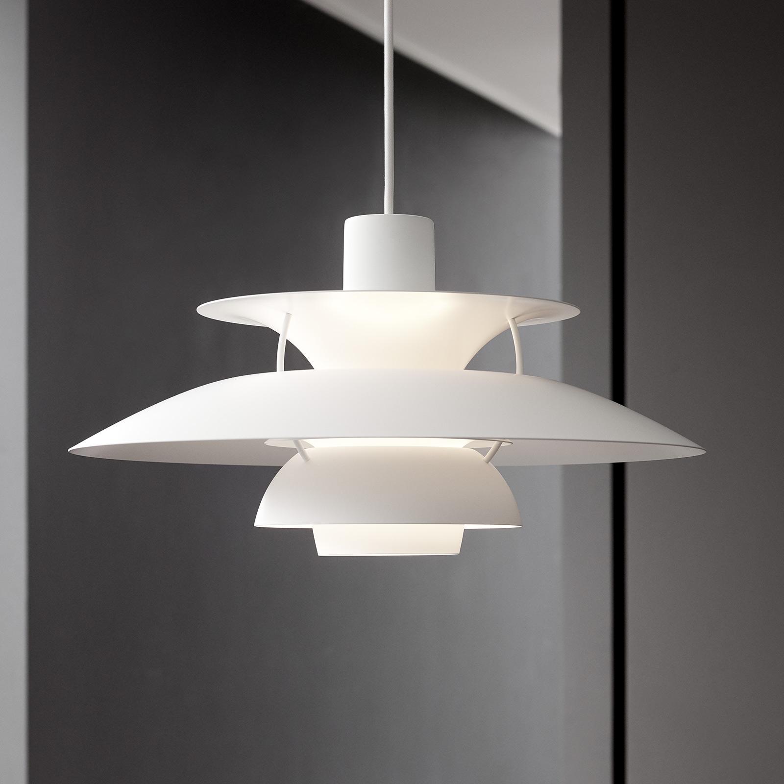 Louis Poulsen PH 5 hanglamp monochroom wit
