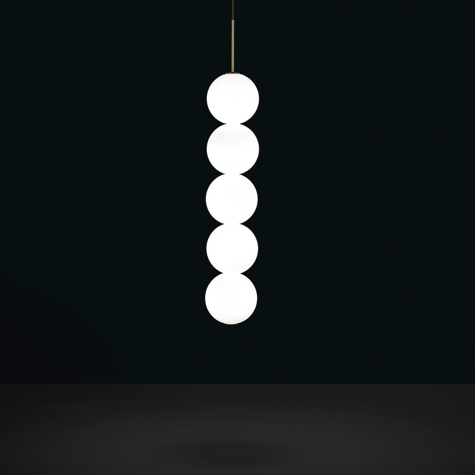 Terzani Abacus hanglamp, messing, 5 ballen