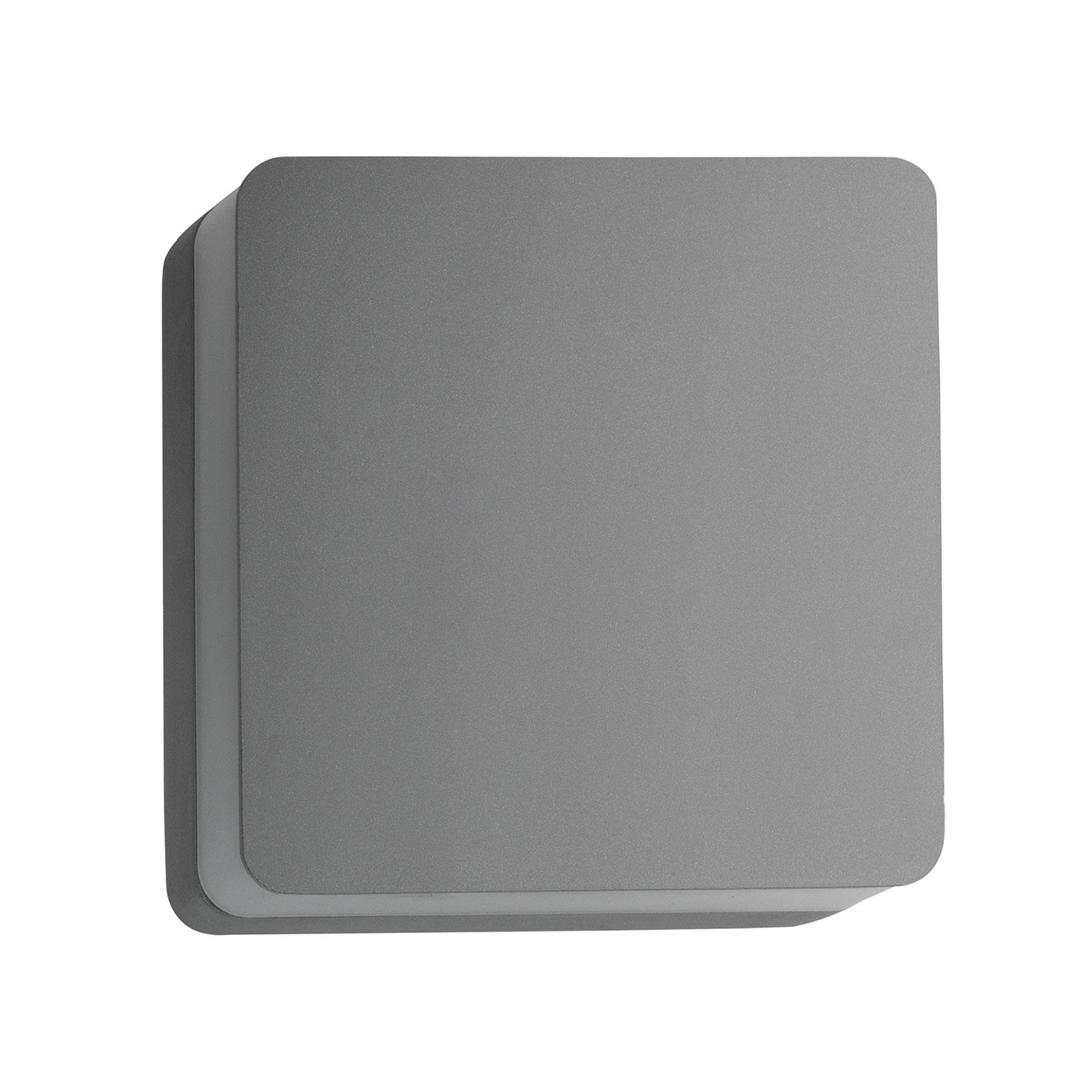 BRUMBERG 10034 LED-Außenwandleuchte, eckig, silber