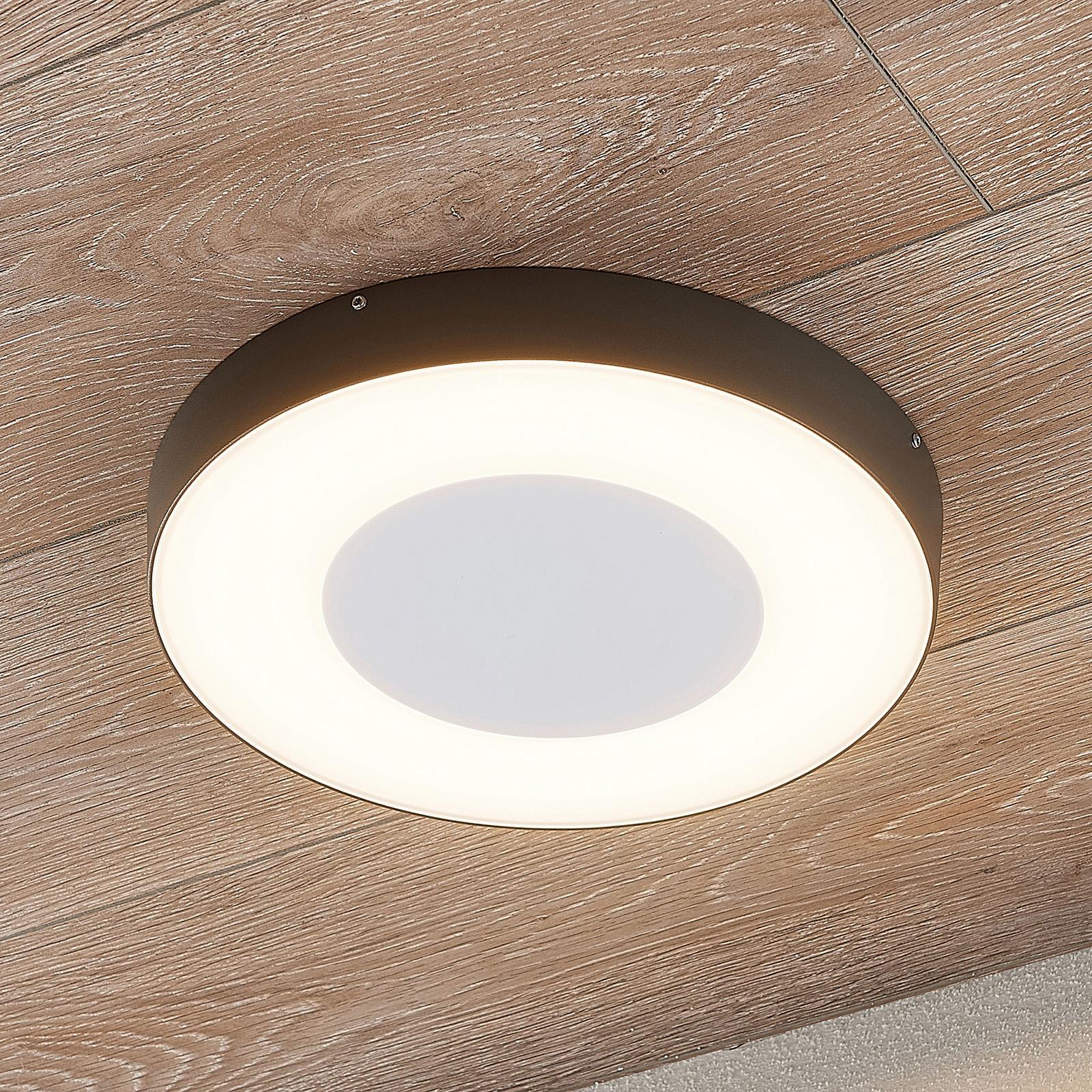 LED utendørs taklampe Sora, rund, sensor