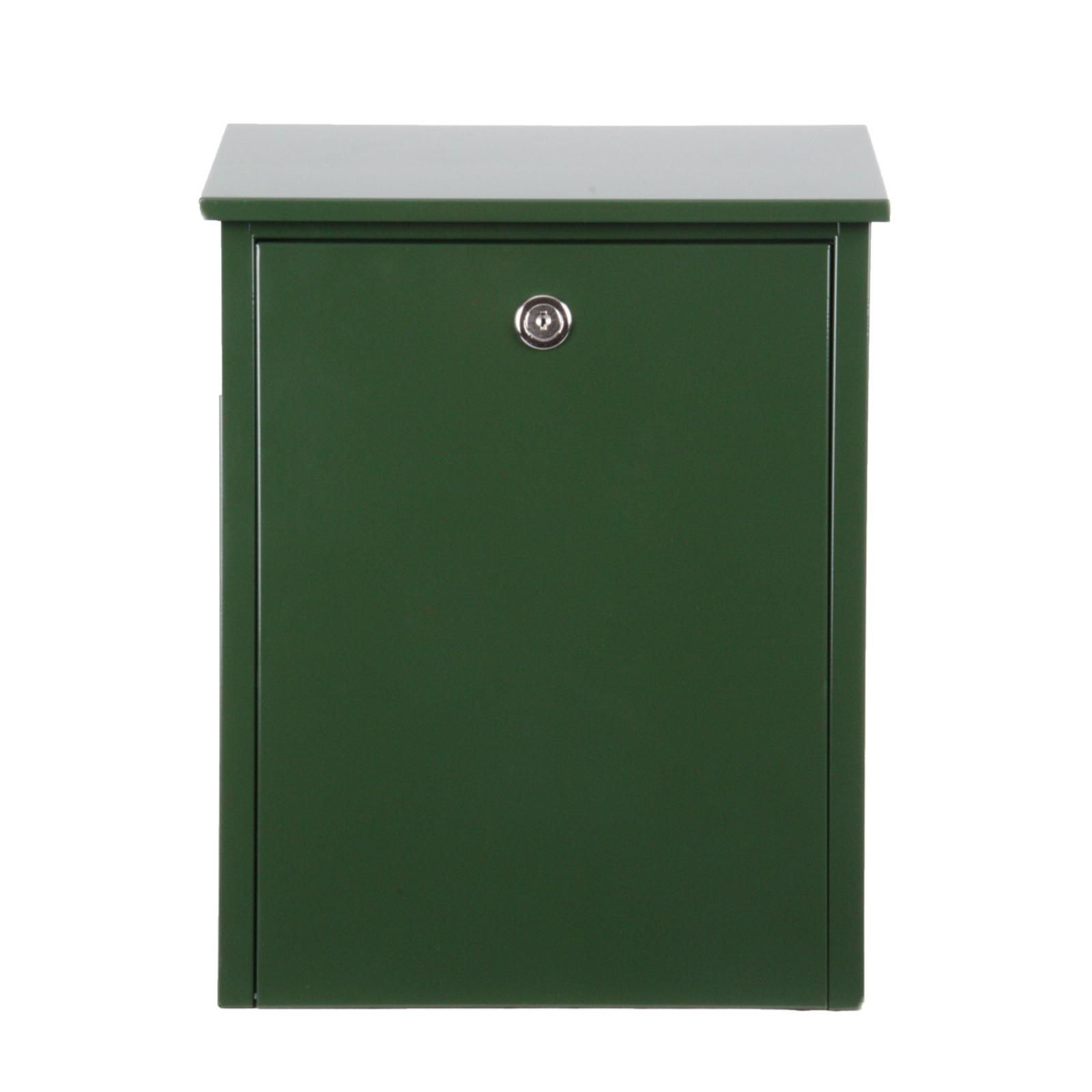 Enkel postkasse av stål, grønn