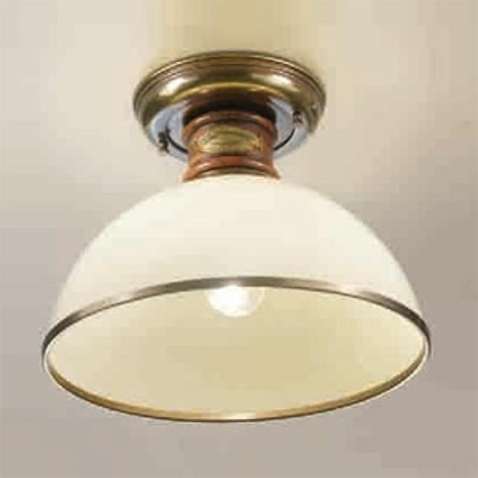 Glazen plafondlamp Libeccio ivoor