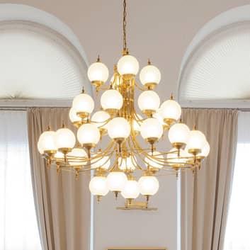 Stilig OBJEKT lysekrone i bronse med 32 lys