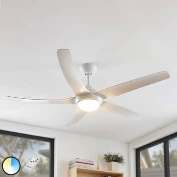 Arcchio Dora LED-Deckenventilator, 5 Flügel weiß