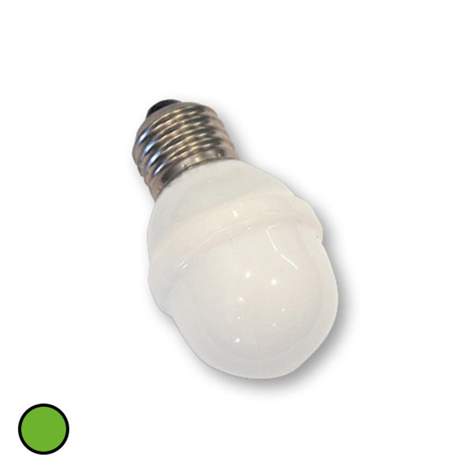 E27 Golfball-Lampe 1W 5,5 VA grün