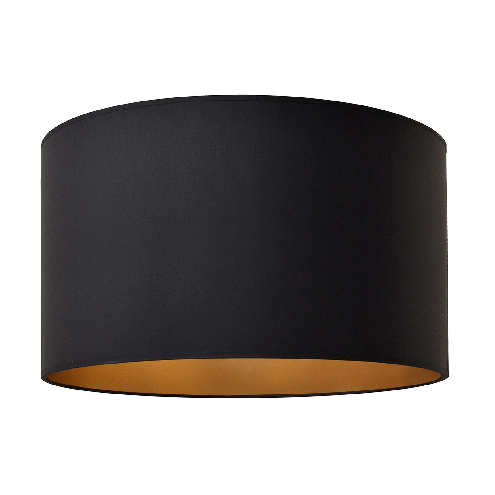 Lampeskjerm Alba, Ø 45 cm, E27, svart/gull