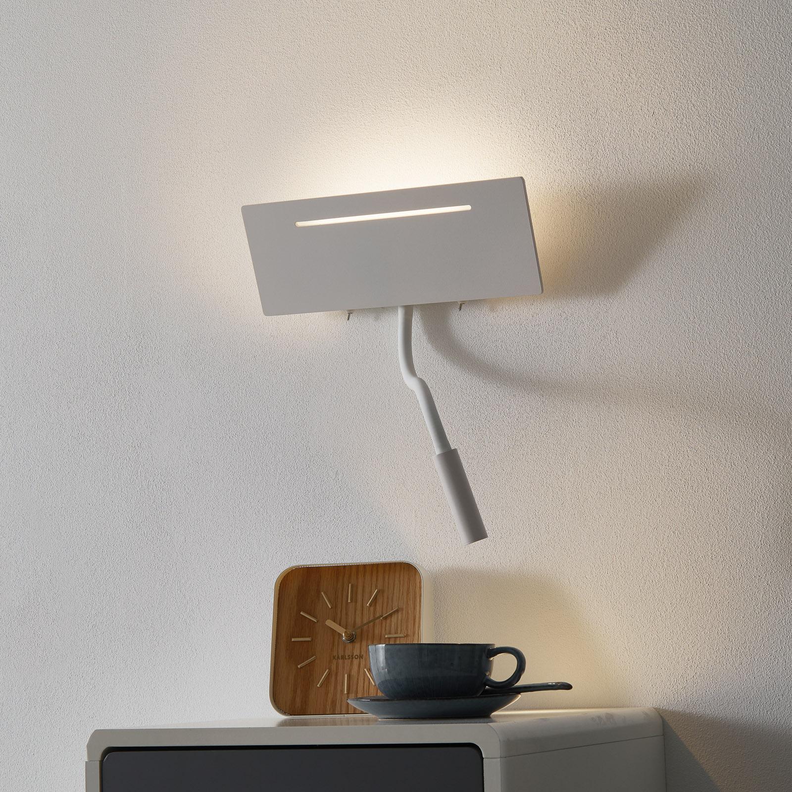 Ariel – valkoinen LED-seinävalaisin ja lukuvalo
