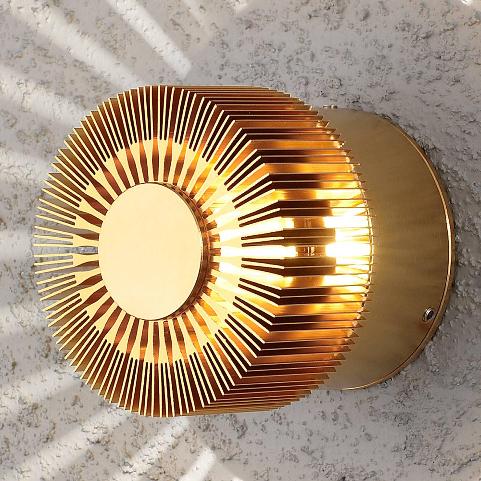 Bronskleurige LED-buitenwandlamp Monza