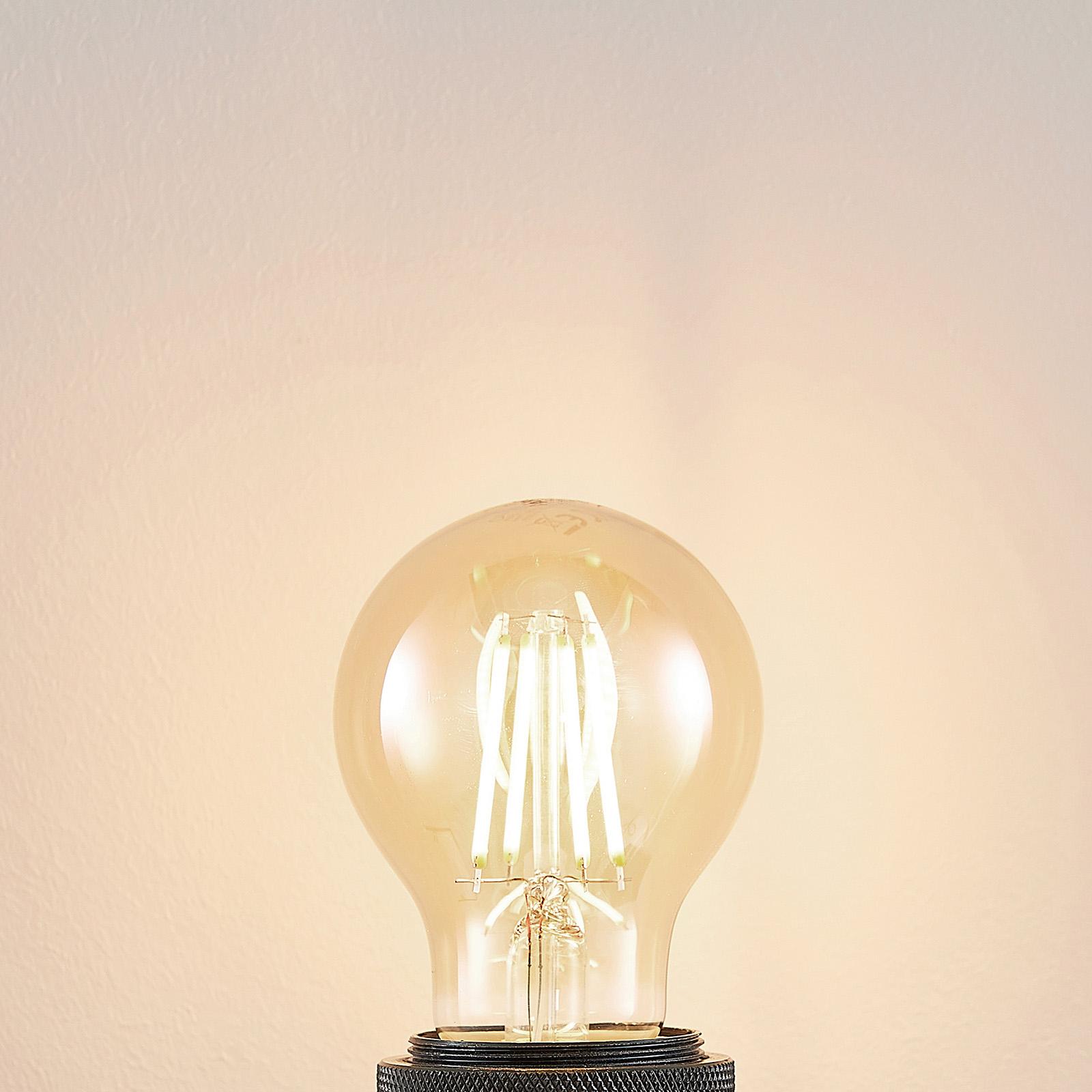 E27 LED-pære A60 6,5 W 2.500K ravgul 3-trinsdæmper