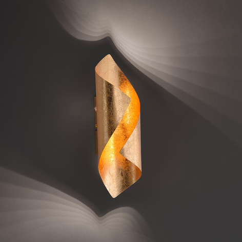 Drejet LED-væglampe Nevis i metal