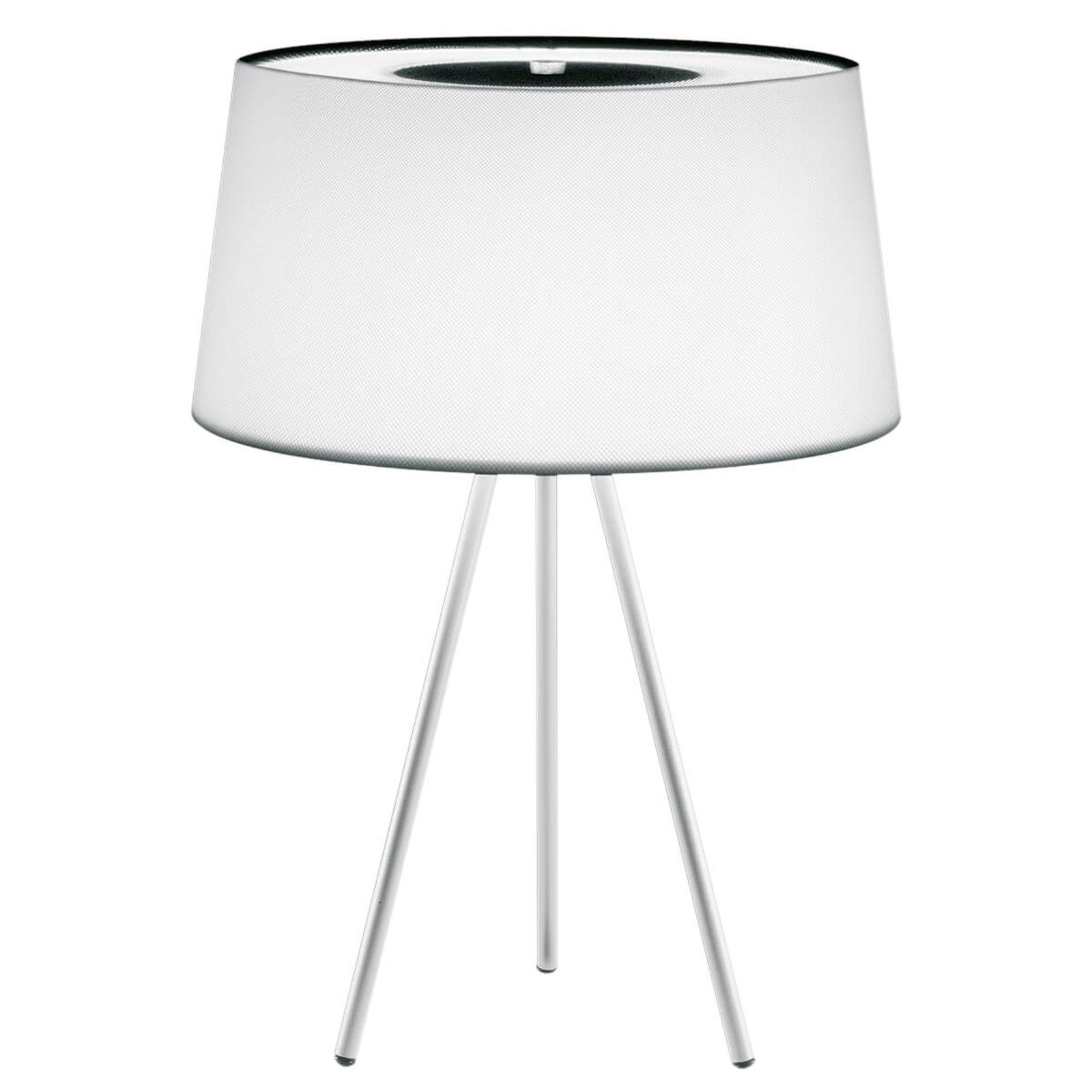 Lampe à poser Tripod blanc cadre gris