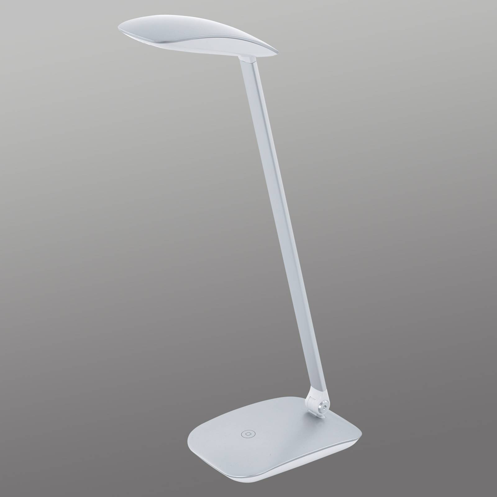 Zilveren LED bureaulamp Cajero met dimmer