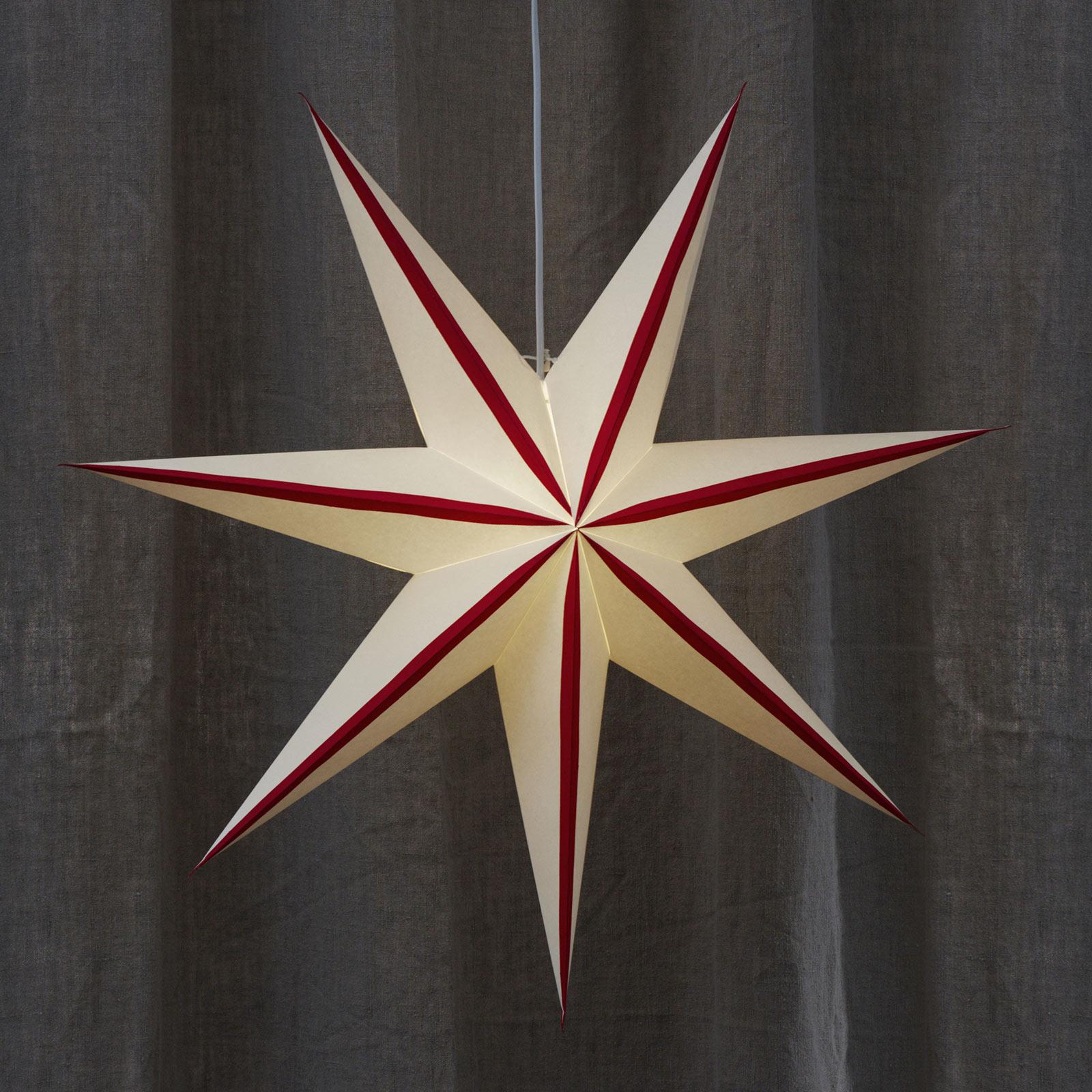 Randi stjerne af papir, hvid, rød