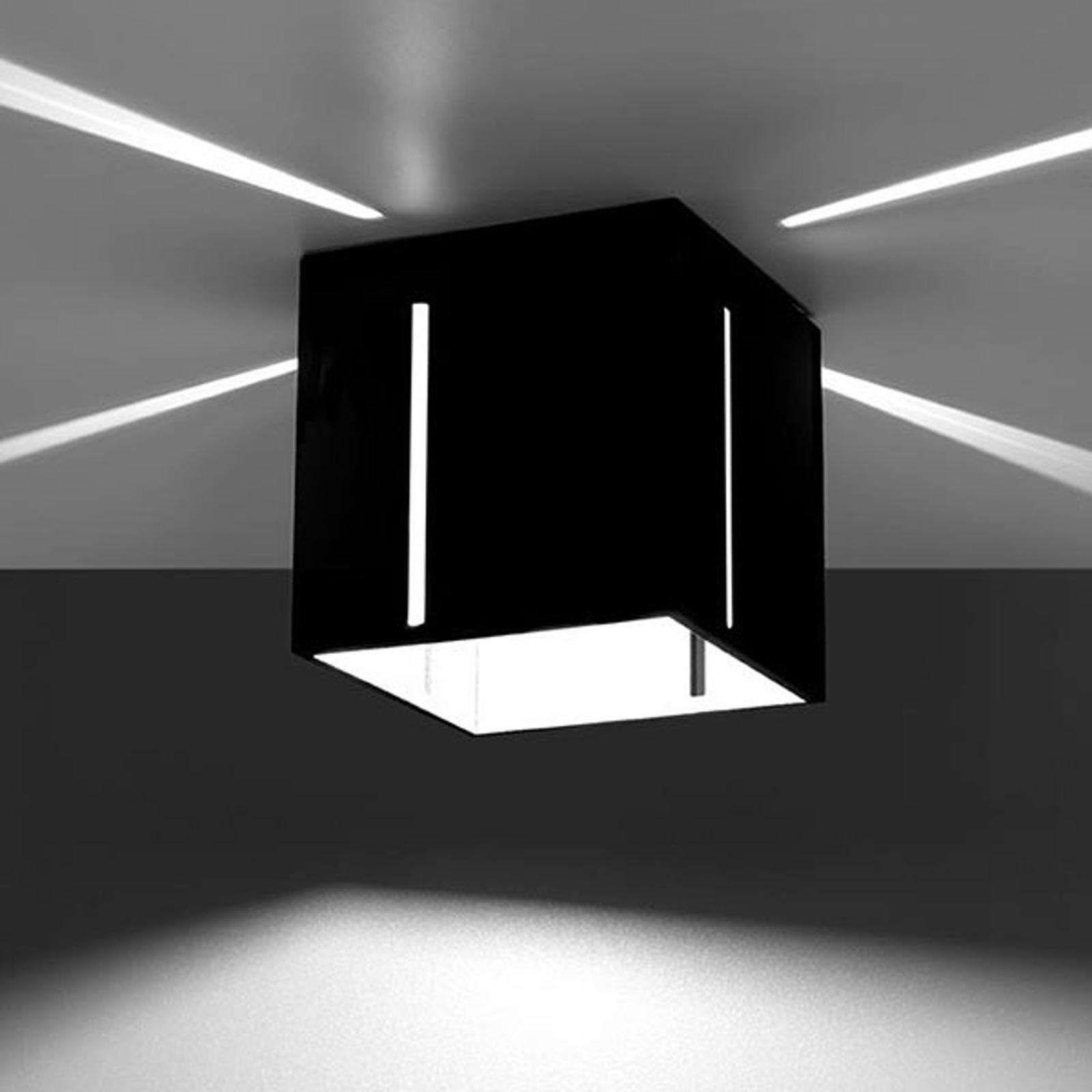 Deckenlampe Topic mit schönem Effektlicht, schwarz