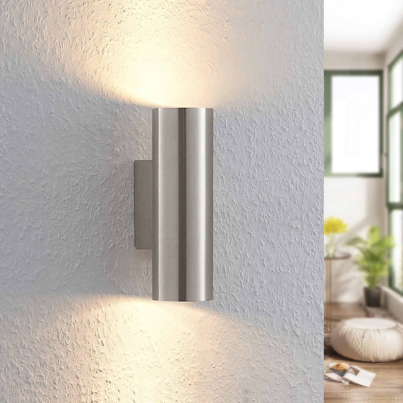 Lindby Ebardo lampa ścienna w kolorze niklu